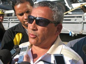 Pedro Gilson Araújo, dono do 'Wiltamar III', que ficou à deriva por 18 dias (Foto: Aluizio Freire/G1)