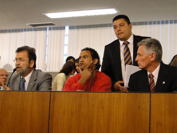 Bruno na sessão na Assembleia Legislativa (Foto: Alex Araújo/G1 MG)
