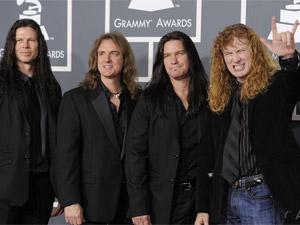 Os integrantes da banda de metal Megadeth, em fevereiro deste ano (Foto: AP)