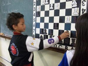 Xadrez na escola (Foto: Arquivo pessoal)