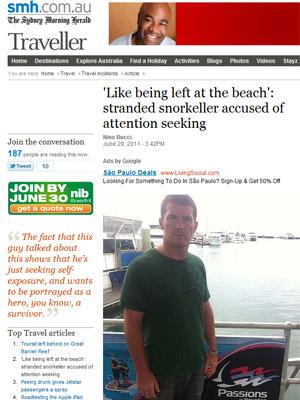 O ameriano Ian Cole em foto publicada pela imprensa australiana (Foto: Reprodução)