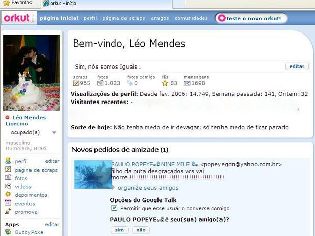 Casal gay registra ameaça de morte recebida em rede social em Goiás (Foto: Arquivo Pessoal)