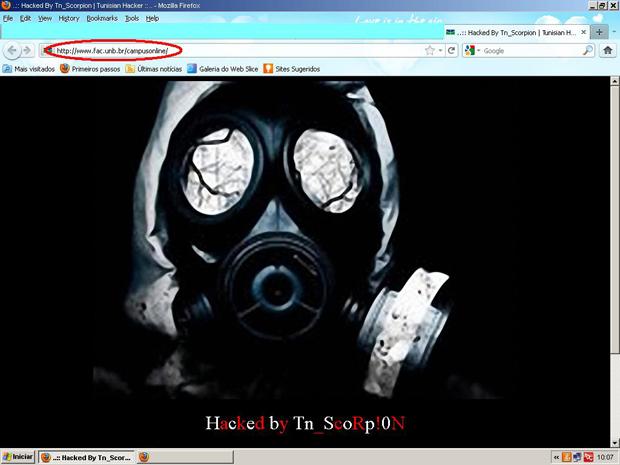 Página da Faculdade de Comunicação foi invadida na manhã  desta  quarta-feira (29) (Foto: Reprodução)