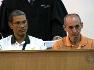 Hércules Araújo Agostinho e Célio Alves vão a julgamento em Cuiabá (Foto: Reprodução/TVCA)