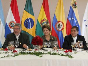 Dilma Rousseff durante almoço em homenagem aos chefes de Estado do Mercosul (Foto: Roberto Stuckert Filho/PR)