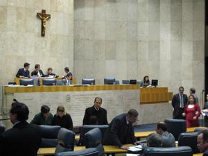 Plenário da Câmara de SP nesta quarta (Foto: Roney Domingos/ G1)