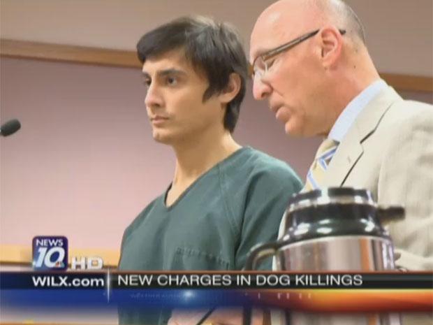 O assassino de cães em sessão de julgamento (Foto: Reprodução/wilx.com)