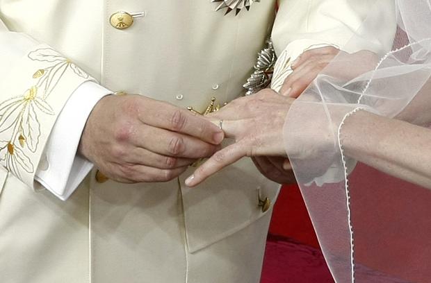Casamento real em Mônaco - Aliança TL (Foto: Lionel Cironneau/AP)
