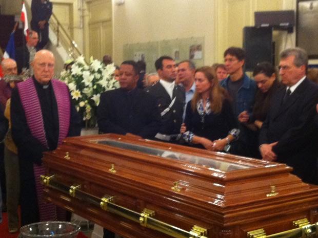 Ato ecumênico homenageia o ex-presidente Itamar Franco. (Foto: Tássia Thum/G1)