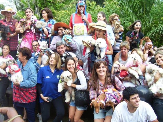 Cerca de 50 cães fantasiados participaram de desfile de moda  (Foto: Divulgação / Divulgação)