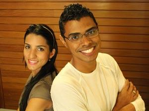 Vívian e Igor, dupla selecionada como Parceiro do DF no Gama (Foto: Hélio Marinho/TV Globo)