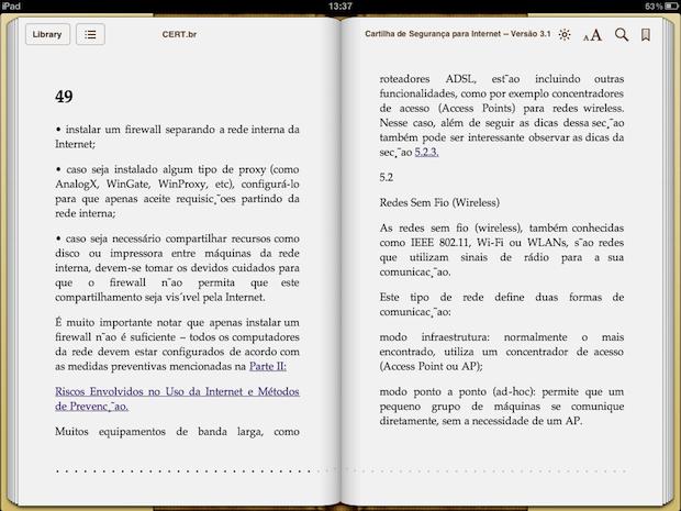 Arquivo recém convertido sendo visualizado dentro de um tablet  (Foto: Reprodução)