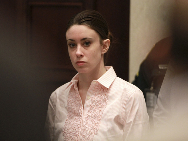 A americana Casey Anthony, de 25 anos, durante o julgamento, nesta terça (5) (Foto: Joe Burbank / AP)