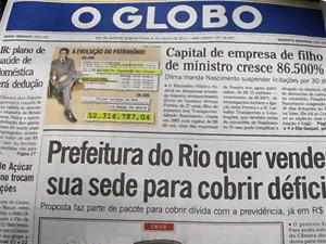 Reprodução de reportagem do jornal 'O Globo' (Foto: Editoria de Arte)