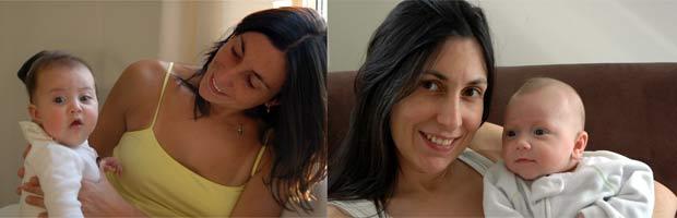 A brasileira Mônica Mello, que mora em Nova York há 12 anos, com seus dois filhos: Luna, em foto de 2007 (à esquerda), e Lorenzo, em foto de 2011. (Foto: Reprodução/Arquivo Pessoal)