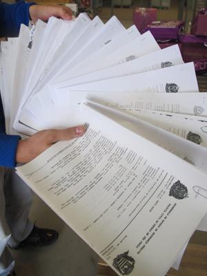 Boletins de ocorrência registrados somente nos primeiros seis meses de 2011 por empresa de carga (Foto: Fabiano Correia/ G1)