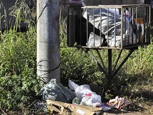 Criança lixo (Foto: Dhiego Maia/G1 MT)