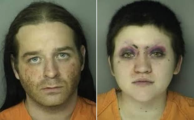 Henry Sanders Jr. e Kerrie Amanda Clayton foram presos após ato sexual na praia. (Foto: Divulgação)