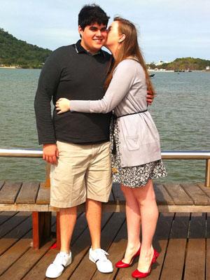 Caio e Gabriela, do ES, se conheceram no curso de inglês (Foto: Arquivo Pessoal)