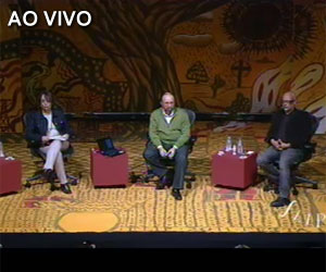 Miguel Nicolelis e Luiz Felipe Pondé debatem na Flip; assista (Reprodução)