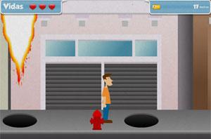 Game exige que o jogador salte sobre os bueiros explosivos (Foto: Divulgação)