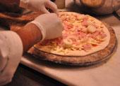 Palmito pizza (Foto: Fabiano Correia/G1)