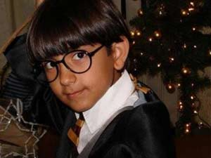 Arthur Loback Lopes de Araújo vestido como Harry Potter (Foto: Eliana Maria Lopes dos Santos Andrade/VC no G1)