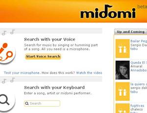 Midomi é um serviço na internet que auxilia a localizar informações sobre músicas a partir do navegador