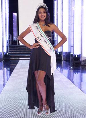 Silvia Novais, eleita Miss Itália no Mundo 2011 (Foto: Divulgação)
