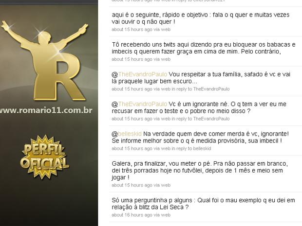 twitter Romário (Foto: Reprodução da internet)