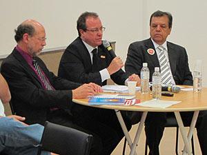Carlos Gadelha durante debate sobre acesso ao SUS durante a 63ª região da SBPC (Foto: Luna D'Alama/G1)