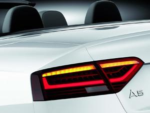 Lanternas do Audi A5 ganharam novo desenho com LED (Foto: Divulgação)