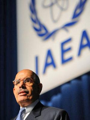 Mohamed ElBaradei em conferência da AIEA de 2009 (Foto: Samuel Kubani/AFP)