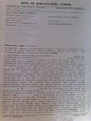 Babá suspeita de agredir criança foi presa no dia 12 de julho (Foto: Reprodução/G1)