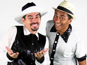 Dupla de humoristas Nico e Lau, de Cuiabá (Foto: Assessoria)