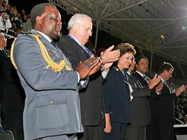 Presidente Dilma Rouseff acompanhou a cerimônia de abertura dos Jogos Militares (Foto: Roberto Stuckert Filho / PR)