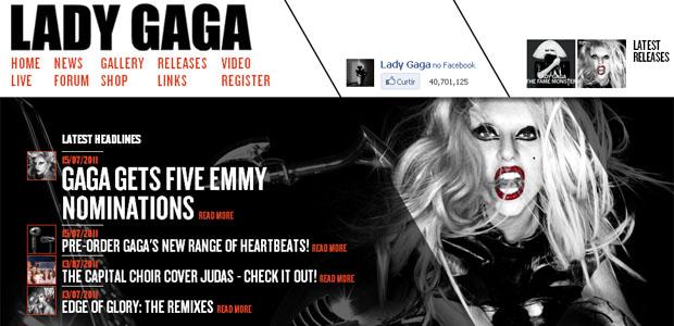 Site da Lady Gaga no Reino Unido teria sido invadida por hackers (Foto: Reprodução)