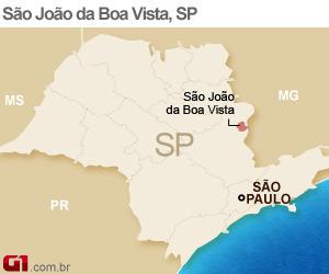 Mapa São João da Boa Vista (Foto: Arte/G1)