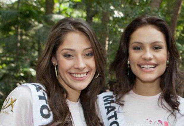 Miss MS, Raiza Vidal, e Miss MT, Jéssica Duarte,  (Foto: Divulgação/MIss Brasil)