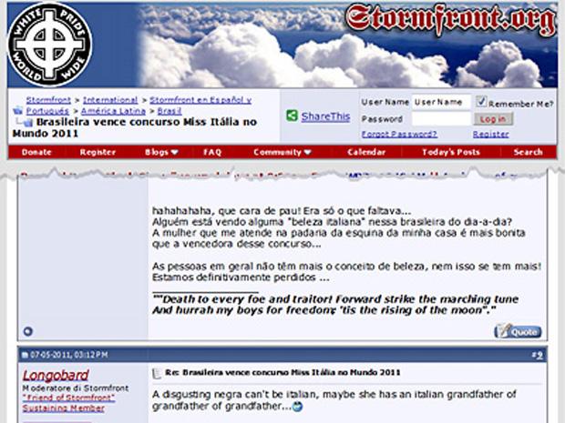 Site nacionalista (Foto: Reprodução)