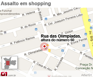mapa vila olímpia (Foto: Arte/G1)