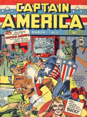 Capa da edição número 1 da revista do Capitão América. HQ foi publicada pela Timely Comics, que mais tarde viria a se chamar Marvel (Foto: Marvel Comics/AP)