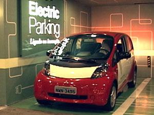 vaga carro elétrico shopping iguatemi (Foto: Alexandre Nascimento/G1)