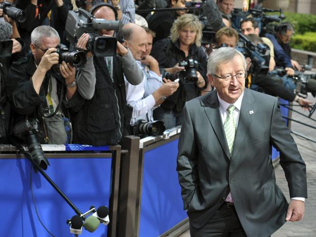 Presidente do Eurogrupo, Jean-Claude Juncker, participa de reunião nesta quinta-feira (21) sobre situação da Grécia (Foto: Reuters