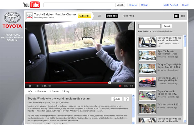 toyota janela touchscreen (Foto: Reprodução/YouTube)