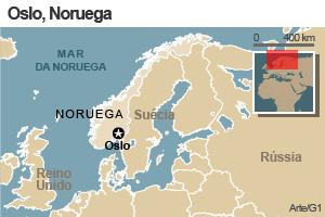 mapa noruega oslo (Foto: Arte G1)