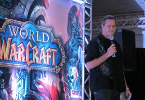 J.Allen Brick, diretor de produção de `World of Warcraft' comenta sobre a chegada do game no Brasil em evento em São Paulo (Foto: Gustavo Petró/G1)