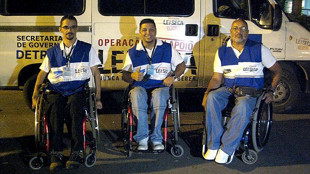 Márcio, Marcelo e Geraldo trabalham na operação Lei Seca desde 2009 (Foto: Rodrigo Vianna / G1)