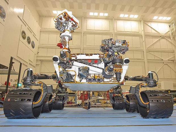 O jipe robô Curiosity, da Nasa (Foto: Nasa)