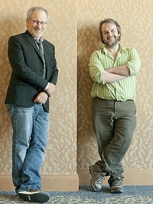 Steven Spielberg e Peter Jackson na Comic-Con (Foto: AP)